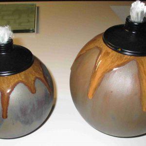 olielamp bruin groot