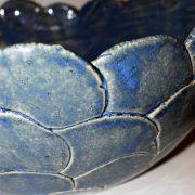 blauw gevlekte komvormige schaal