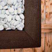 kader met licht blauwe keramiek stenen